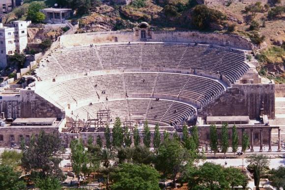 Roman Theater, tourist sites Amman Jordan