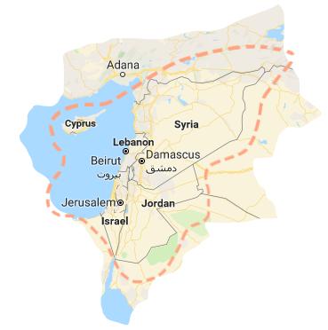 map of levant