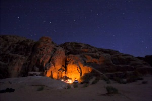 Wadi Rum at night